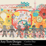 Carefree Days Embellishment Pack-$3.49 (Amy Teets)