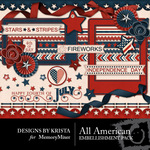 All American DBK Embellishment Pack 2-$2.99 (Designs by Krista)