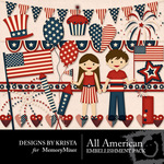 All American DBK Embellishment Pack-$2.99 (Designs by Krista)