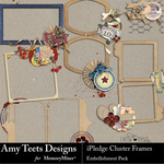I Pledge Cluster Frames-$2.49 (Amy Teets)
