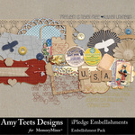 I Pledge Embellishment Pack-$3.49 (Amy Teets)