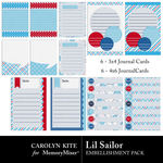 Lil Sailor Journal Cards-$2.49 (Carolyn Kite)