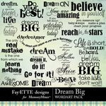 Dream Big WordArt-$2.49 (Fayette Designs)