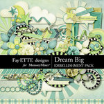 Dream Big Embellishments-$3.49 (Fayette Designs)