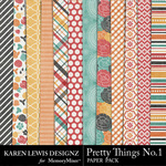Pretty Things Paper Pack-$3.49 (Karen Lewis)
