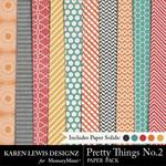 Pretty Things Paper Pack 2-$3.99 (Karen Lewis)