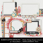 Pretty Things Frame Cluster Pack-$1.99 (Karen Lewis)