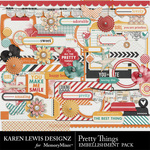 Pretty Things Embellishment Pack-$2.49 (Karen Lewis)