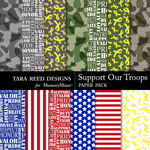Support Our Troops Paper Pack-$2.99 (Tara Reed Designs)