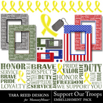 Support Our Troops Embellishment Pack-$2.99 (Tara Reed Designs)
