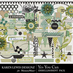 Yes You Can Embellishment Pack-$2.99 (Karen Lewis)