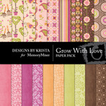Grow With Love Paper Pack-$1.75 (Designs by Krista)
