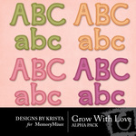 Grow With Love Alpha Pack-$2.99 (Designs by Krista)