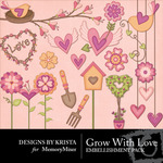 Grow with love embellishment small
