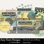 For the Love of Music Embellishment Pack-$3.49 (Amy Teets)