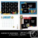 2014 Calendar Quickmix-$5.99 (Albums to Remember)