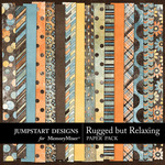 Rugged But Relaxing Paper Pack-$1.75 (Jumpstart Designs)