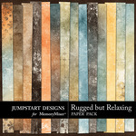Rugged But Relaxing Grunge Paper Pack-$3.49 (Jumpstart Designs)