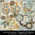 Rugged But Relaxing Blooms Pack-$1.25 (Jumpstart Designs)