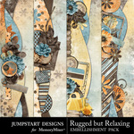 Rugged But Relaxing Borders Pack-$1.25 (Jumpstart Designs)