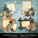Rugged But Relaxing Clusters Pack-$1.25 (Jumpstart Designs)