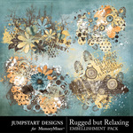 Rugged But Relaxing Scatters-$2.49 (Jumpstart Designs)