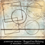 Rugged But Relaxing Stitches Pack-$2.49 (Jumpstart Designs)