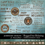 Rugged But Relaxing WordArt Pack-$1.99 (Jumpstart Designs)