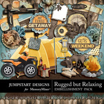 Rugged But Relaxing Add On Embellishment Pack-$2.99 (Jumpstart Designs)