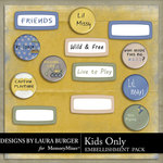 Kids Only Flairs and Labels-$1.00 (Laura Burger)