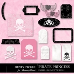 Pirate Princess Embellishment Pack 2-$1.99 (Rusty Pickle)