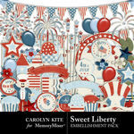 Sweet Liberty Embellishment Pack-$2.10 (Carolyn Kite)