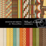 Whats Cookn Paper Pack-$3.49 (Designs by Krista)