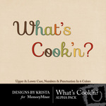 Whats Cookn Alpha Pack-$4.49 (Designs by Krista)