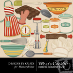 Whats Cookn Embellishment Pack-$2.99 (Designs by Krista)
