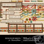 Whats Cookn Embellishment Pack 2-$2.99 (Designs by Krista)
