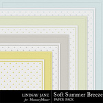 Soft Summer Breeze Embossed Paper Pack-$1.99 (Lindsay Jane)