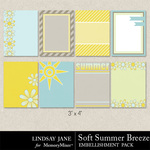 Soft Summer Breeze Journal Cards-$1.99 (Lindsay Jane)