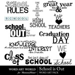 School Is Out Word Art-$2.49 (Word Art World)