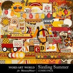 Sizzling Summer Combo Pack-$3.50 (Word Art World)