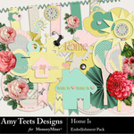 Home Is Embellishment Pack-$3.49 (Amy Teets)