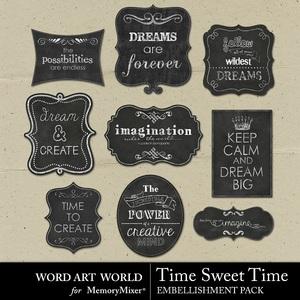 Time sweet time chalk signs medium