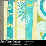 Super Sonic Paper Pack-$3.49 (Amy Teets)