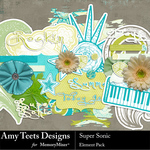 Super Sonic Embellishment Pack-$3.49 (Amy Teets)