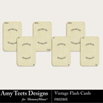 Vintage Flash Cards Freebie-$0.00 (Amy Teets)