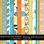 Flirting with Summer Pattern Paper Pack-$1.75 (Laura Burger)