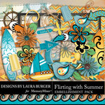 Flirting with Summer Add On Embellishment Pack-$3.49 (Laura Burger)