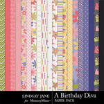 A Birthday Diva Paper Pack-$3.49 (Lindsay Jane)