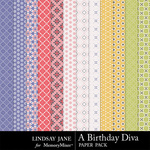 A Birthday Diva Pattern Paper Pack-$1.99 (Lindsay Jane)