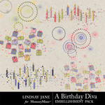 A Birthday Diva Scatterz-$1.99 (Lindsay Jane)